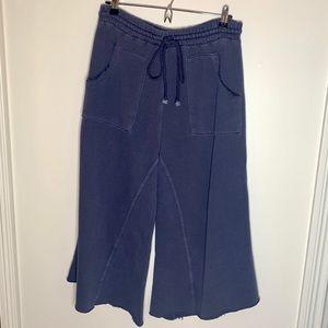 Free People Movement | Wide Leg Sweatpants Blue